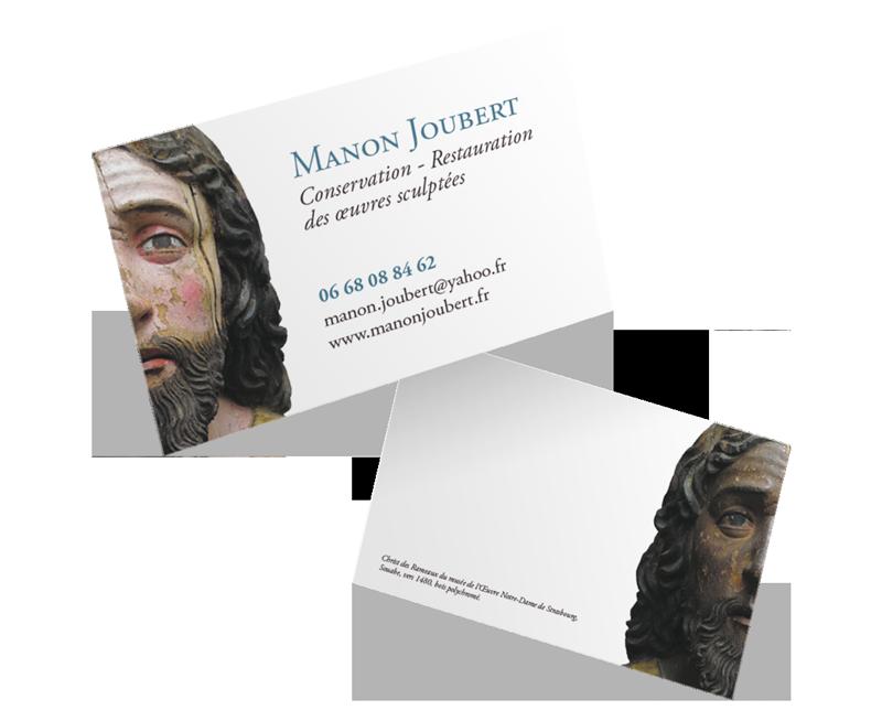 Une Carte De Visite Recto Verso Et Un Site Internet Pour Restauratrice Sculptures