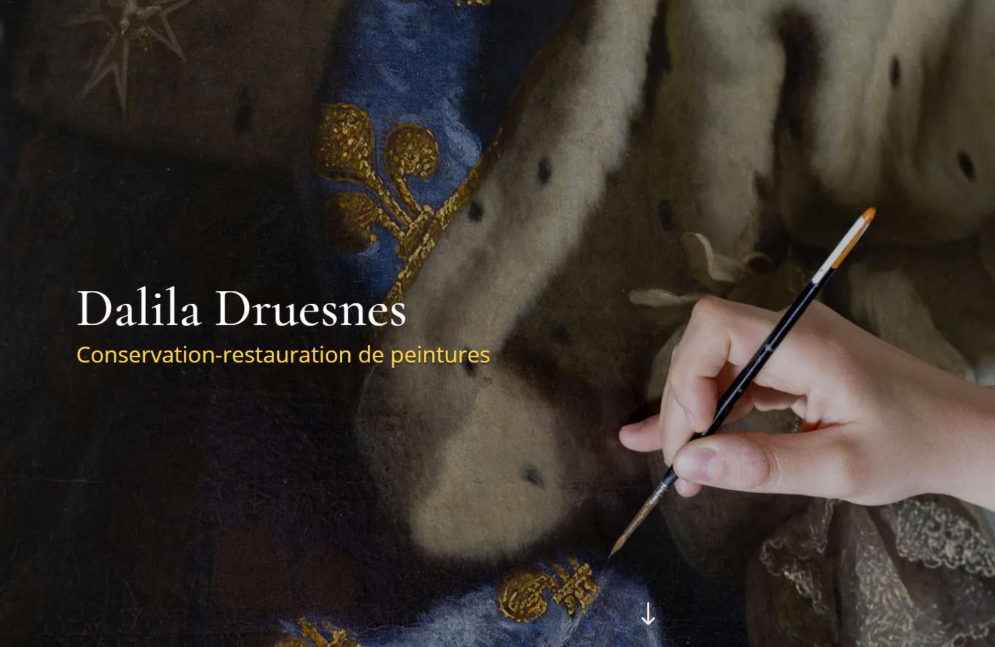 Accueil du site de Dalila Druesnes